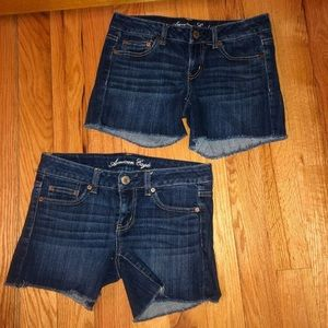 Two Pairs Of Identical American Eagle Shorts